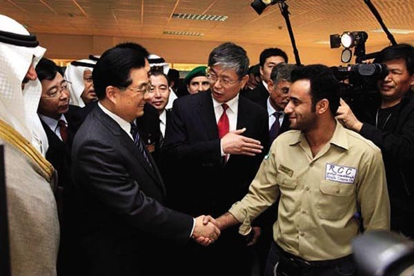 Hu Jintao visited Saudi RCC project Rail transit