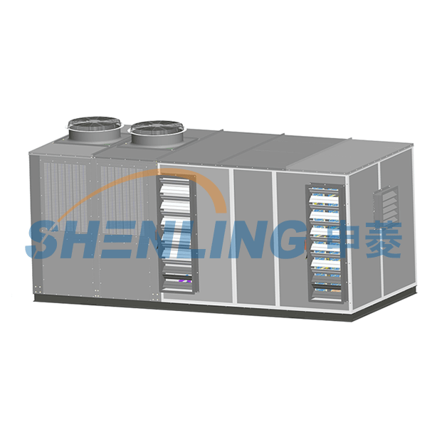 Evaporative condensing rooftop air conditioner