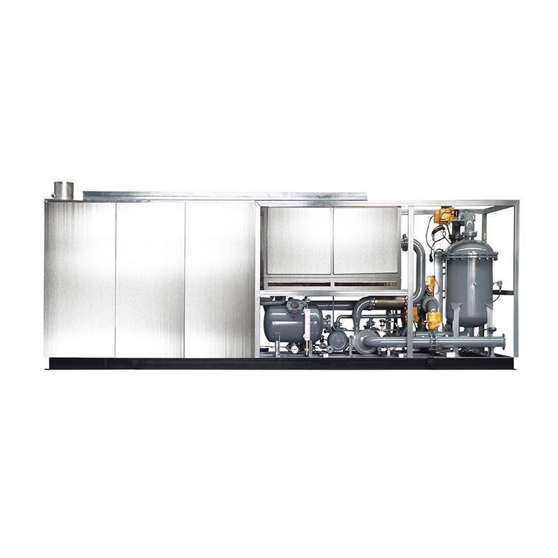 Condensing oil,gas heat recovery unit